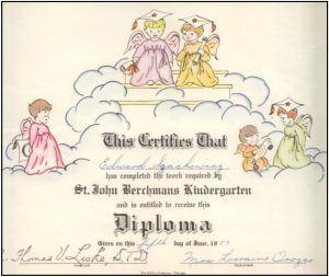 Dr. Szachowicz's Kindergarten Diploma