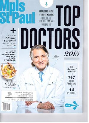 Mpls St Paul Top Doctors magazine cover
